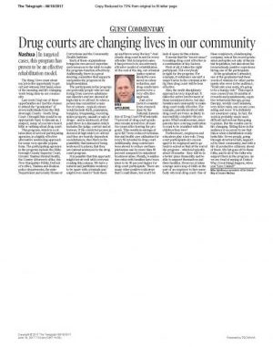 Drug Court: A Program Which Is Changing Lives In Our Community