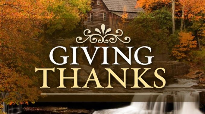 Giving Thanks For The Blessings Of 2017