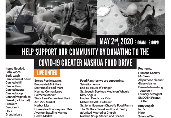 Planning Community-wide Food Drive For Saturday, May 2nd