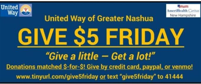 Take Five And Join Us For $5 FRIDAYS UNITED!
